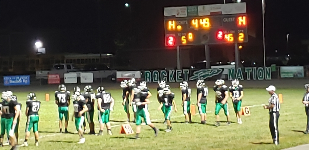 14-14 at Half.  Let's Fight Rockets!