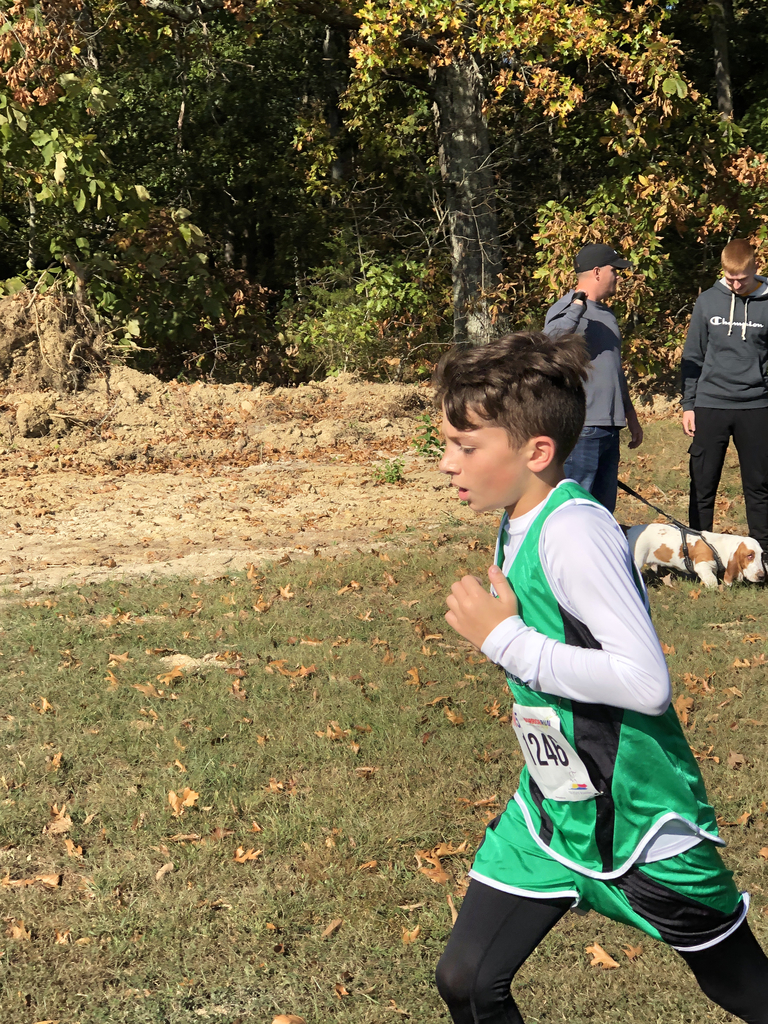 7th grader Josh Baggs running in West Union Invitational.