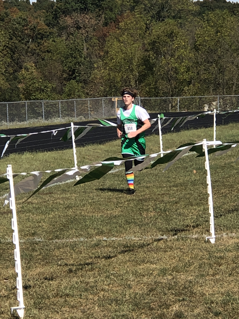 Nico Crawford finishing strong XC Meet