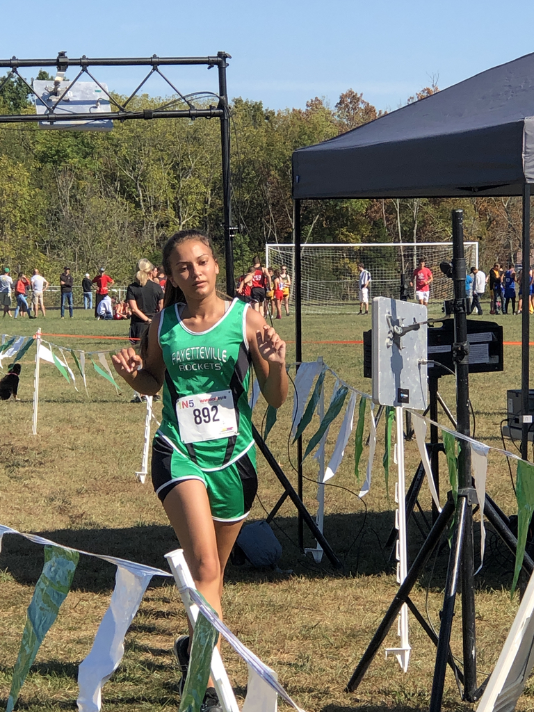 Cora Hansel finishing strong XC