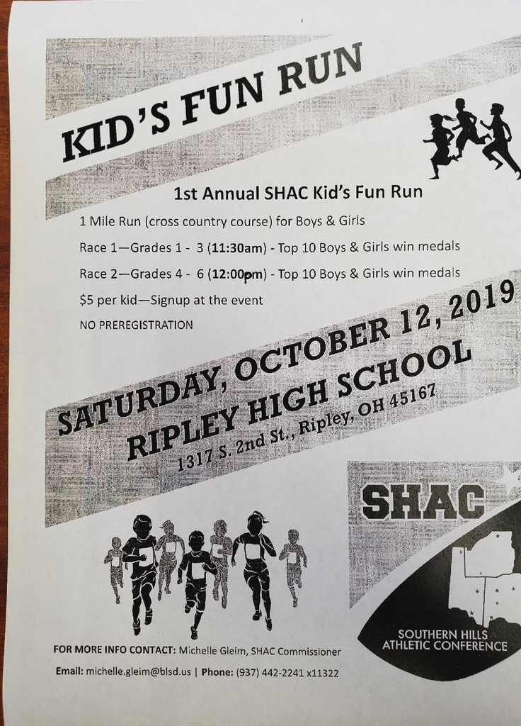 SHAC kid's fun run