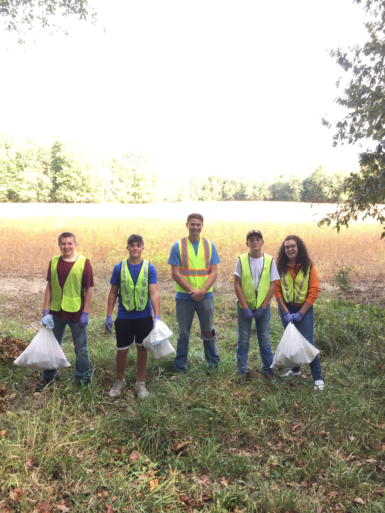 Members participating in the Roadside Cleanup
