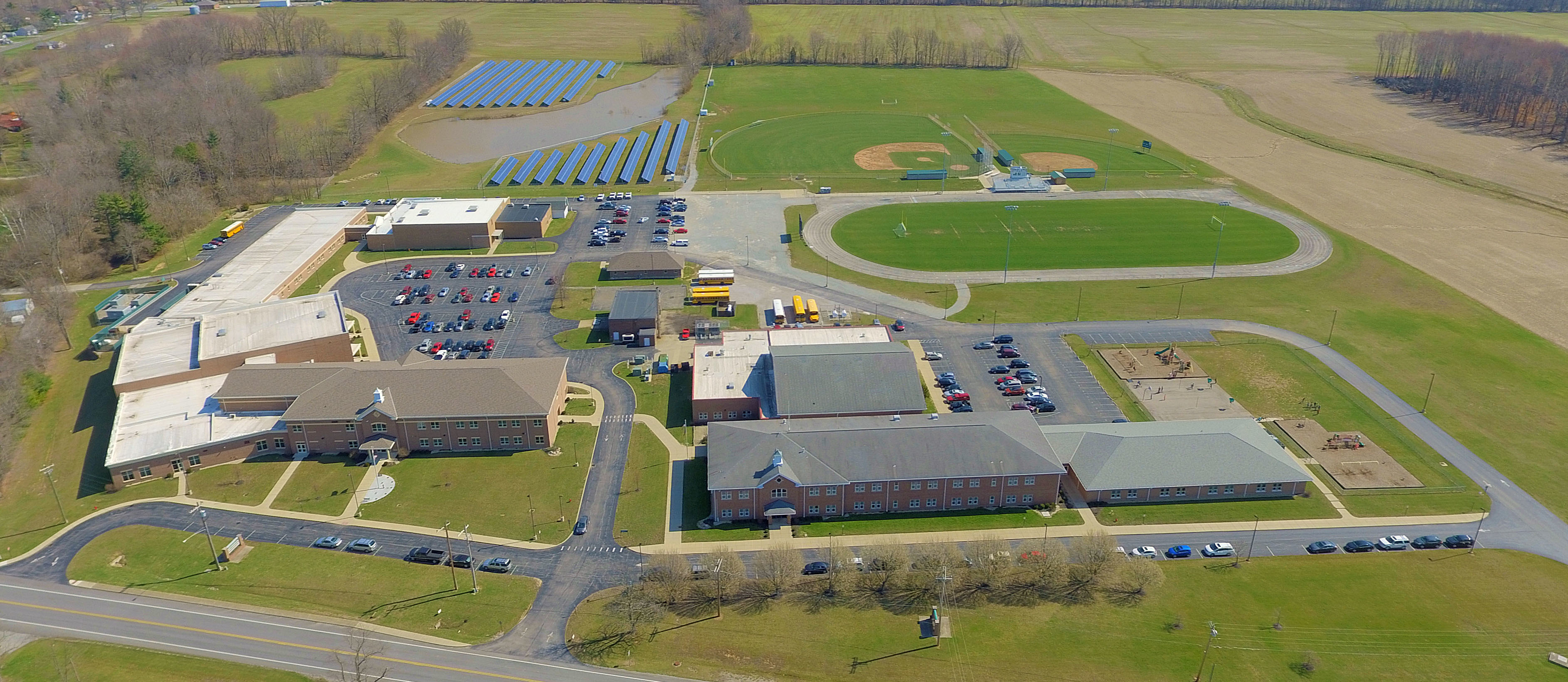 Aerial Photo Of School